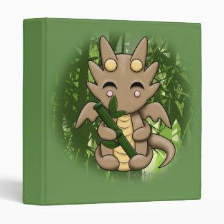 "Kawaii Bamboo Dragon 1"" 3 Ring Binder"