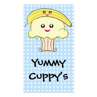 Kawaii Banana Cupcake Business Cards