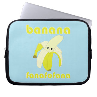Kawaii Banana Fanafofana laptop sleeve