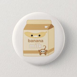 Kawaii Banana Milk Button
