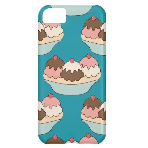 Kawaii banana split ice cream sundae dessert case iPhone 5C case