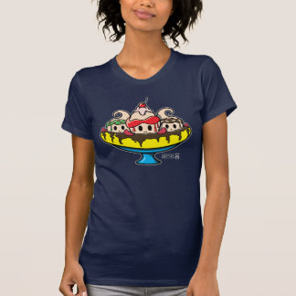 Kawaii Banana Split Ice Cream Sundae T-Shirt