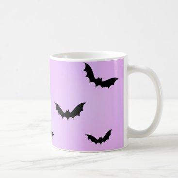 Halloween Themed Kawaii Bat Pattern Classic Mug