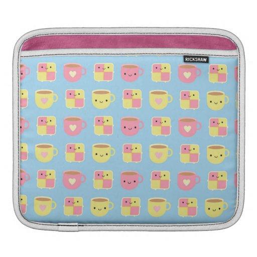 Kawaii Battenberg Cake & Cup of Tea iPad Sleeve