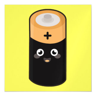 Kawaii battery magnetic card