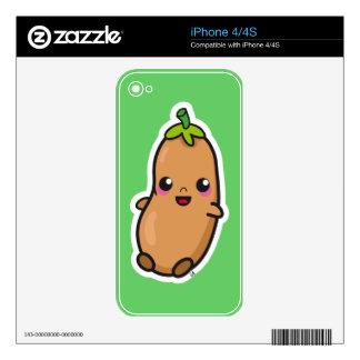 Kawaii Bean iphone 4/4s skin Skin For iPhone 4S