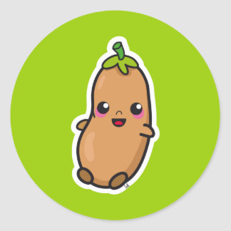 Kawaii Bean sticker