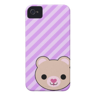 Kawaii Bear Barely There Case-Mate Blackberry iPhone 4 Cover