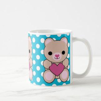 Kawaii Bear Heart Love Mug