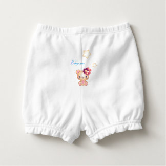 Kawaii Bear Personalized Diaper Cover