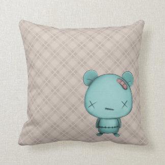 kawaii bear throw pillow