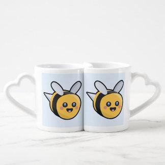 Kawaii bee coffee mug set