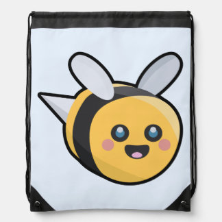 Kawaii bee drawstring bag