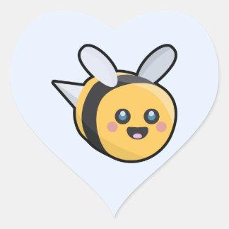 Kawaii Bee Heart Sticker