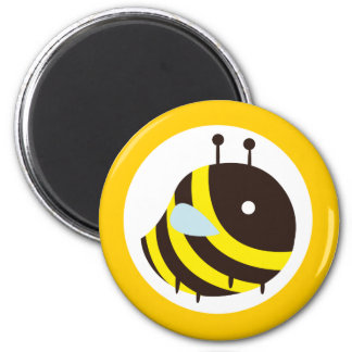 KAWAII BEE VERY CUTE FLYING BEE 2 INCH ROUND MAGNET
