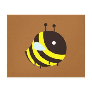 KAWAII BEE VERY CUTE FLYING BEE BUMBLEBEE CANVAS PRINT