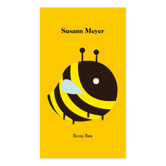 KAWAII BEE VERY CUTE FLYING BEE Double-Sided STANDARD BUSINESS CARDS (Pack OF 100)