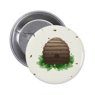 kawaii beehive and beeswarm buttons