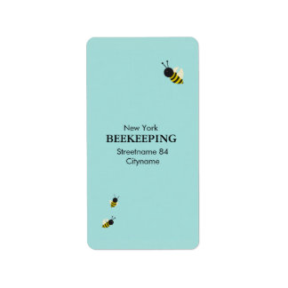 Kawaii Bees flying Address Label