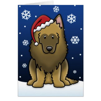 Kawaii Belgian Tervuren Christmas Card