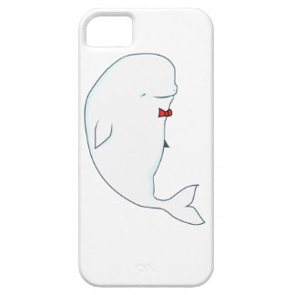 kawaii beluga whale with red bowtie iPhone SE/5/5s case