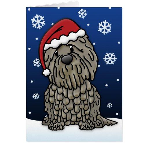 Kawaii Bergamasco Christmas Card