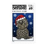 Kawaii Bergamasco Christmas Stamps