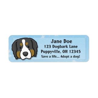 Kawaii Bernese Mountain Dog Label