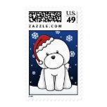 Kawaii Bichon Frise Christmas Stamps