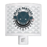 Kawaii Black Panther Logo Night Light
