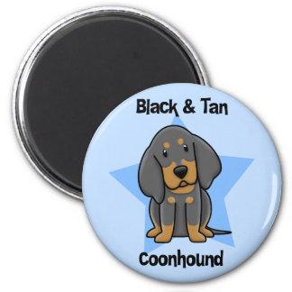 Kawaii Black & Tan Coonhound Magnet