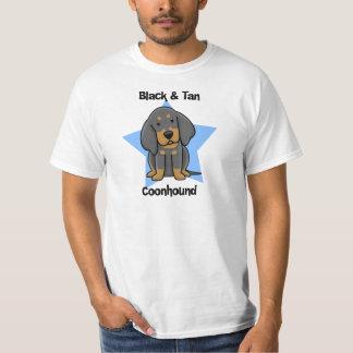 Kawaii Black & Tan Coonhound T-Shirt