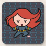 Kawaii Black Widow Dash Drink Coaster