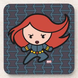 Kawaii Black Widow Dash Drink Coaster
