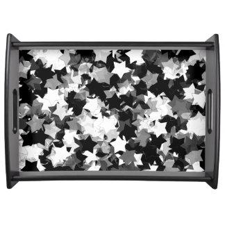 Kawaii blanco y negro protagoniza el fondo bandejas