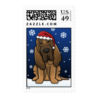 Kawaii Bloodhound Christmas Stamps