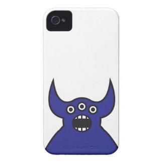 Kawaii Blue Alien Monster Face Blackberry Bold Case
