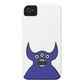 Kawaii Blue Alien Monster Face Case-Mate iPhone 4 Cases