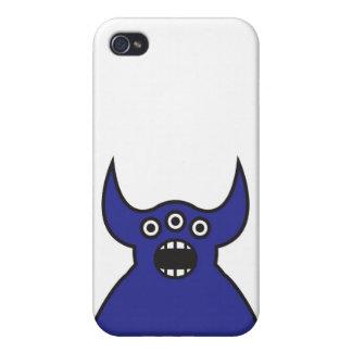 Kawaii Blue Alien Monster Face Case For iPhone 4