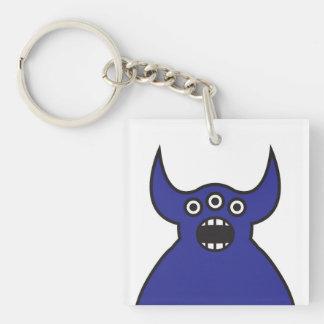 Kawaii Blue Alien Monster Face Acrylic Key Chain