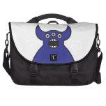 Kawaii Blue Alien Monster Face Laptop Bag