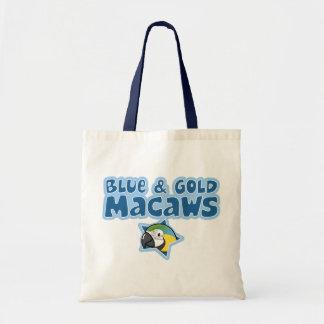 Kawaii Blue and Gold Macaws Tote Bag
