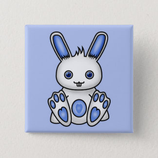 Kawaii Blue Bunny Button