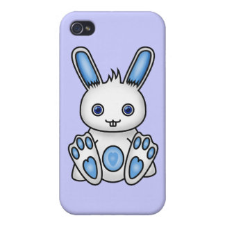 Kawaii Blue Bunny Cover For iPhone 4