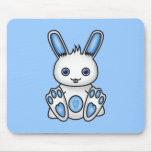 Kawaii Blue Bunny Mousepad