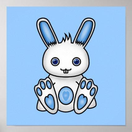 Kawaii Blue Bunny Print