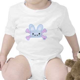kawaii blue crossbones bunny bodysuit
