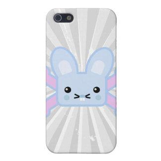 kawaii blue crossbones bunny case for iPhone 5
