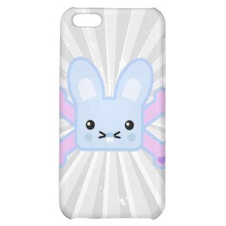 kawaii blue crossbones bunny case for iPhone 5C