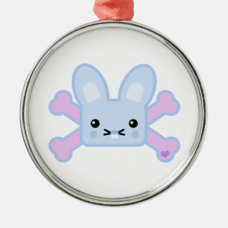 kawaii blue crossbones bunny christmas ornament